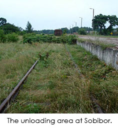 Photo of Sobibor Unloading Area