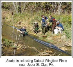 Students Collecting Data at Wingfield Pines