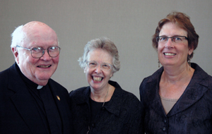 Photo of Fr. Byron, Sister Donley and Eileen Sullivan-Marx