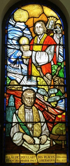 Poullart des Places and Libermann stained glass