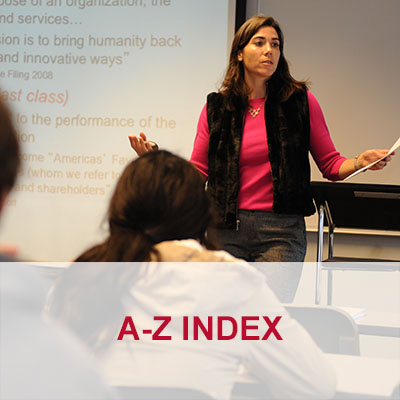 A to Z index