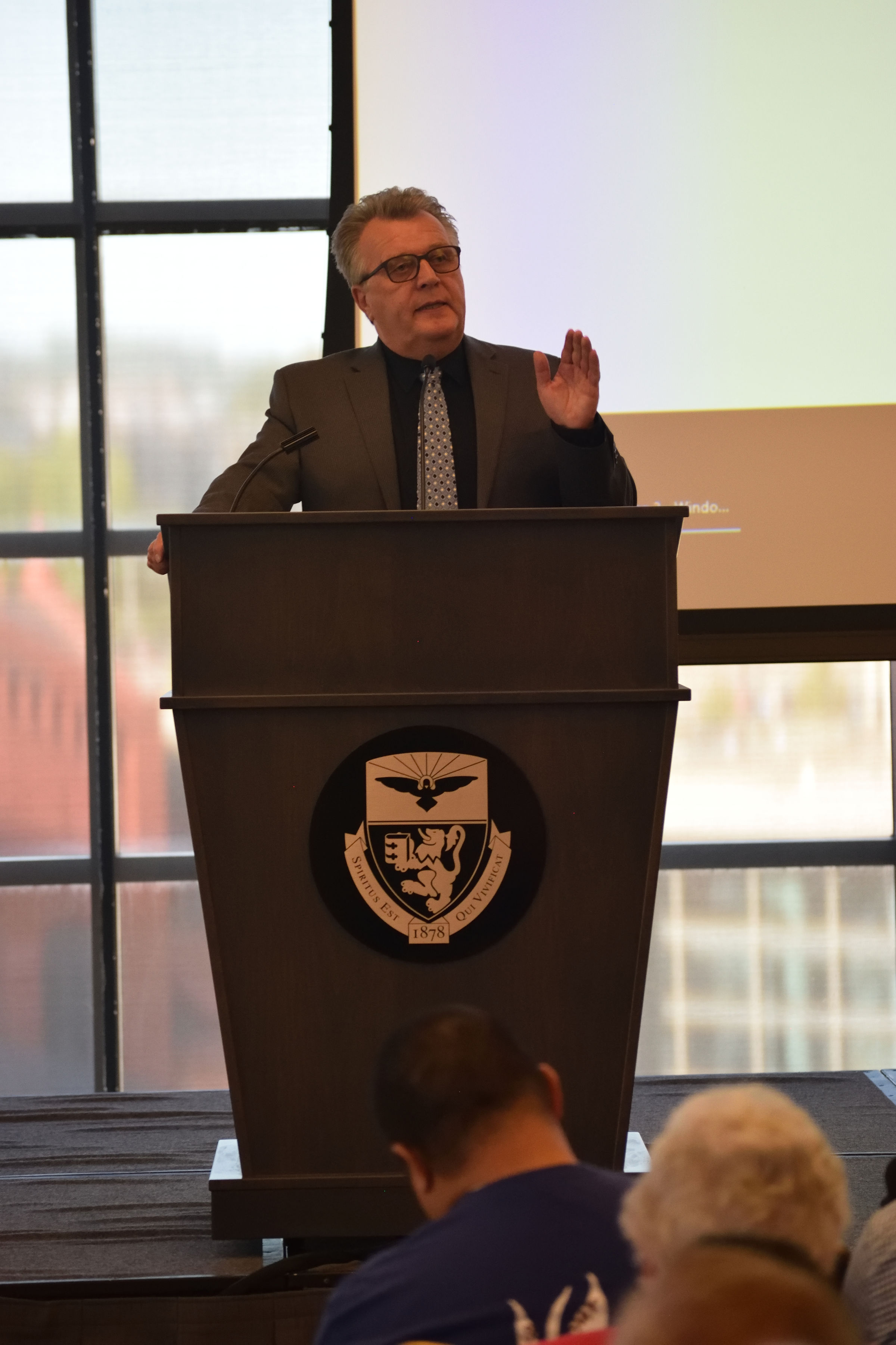 Dr. Veli-Matti Kärkkäinen speaking at the 2019 Holy Spirit Lecture