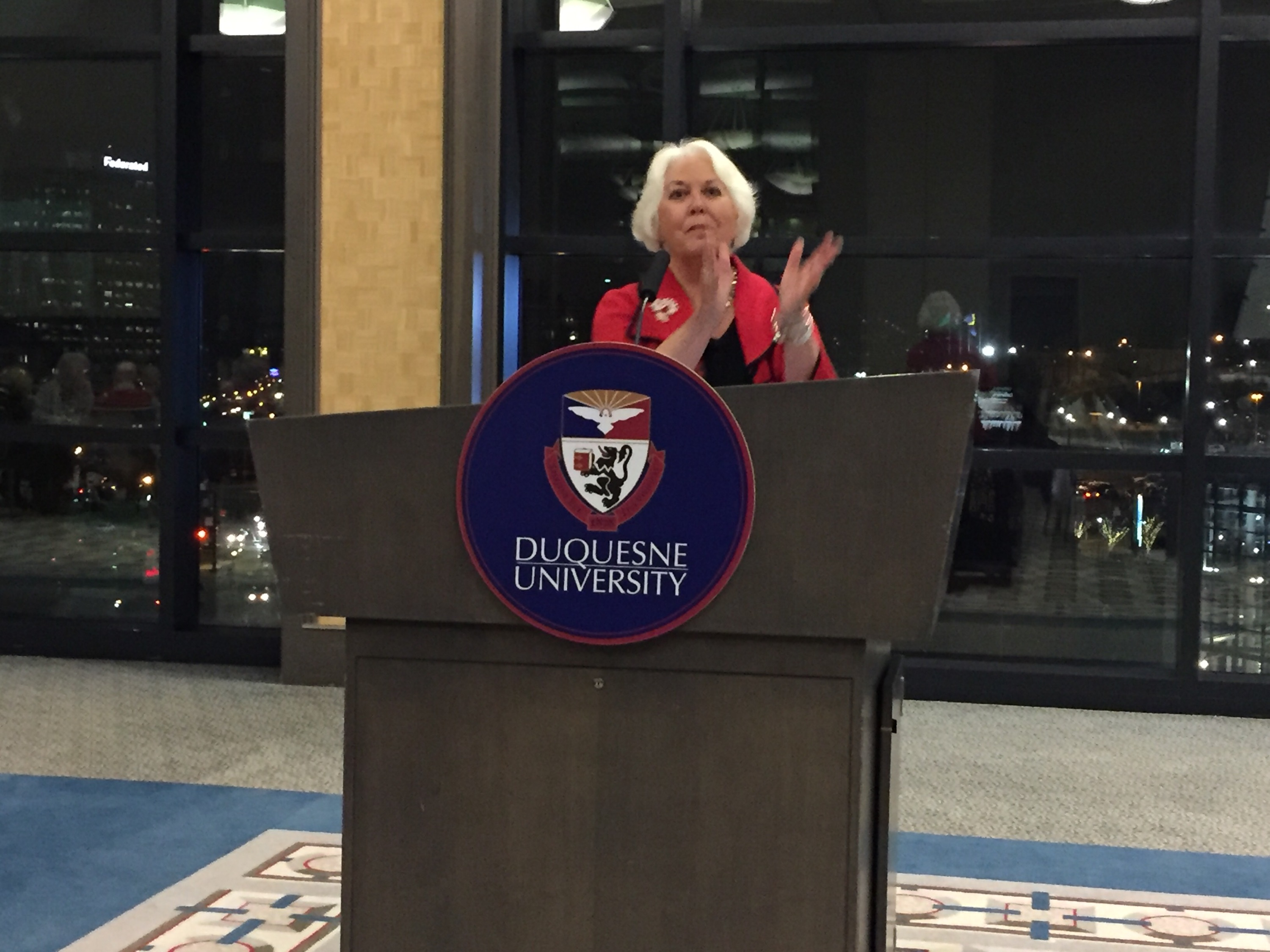 Women's Advisory Board President welcomes guests at annual Wine Tasting Event
